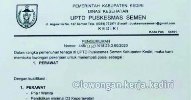 Recruitement UPTD Puskesmas Semen Kediri