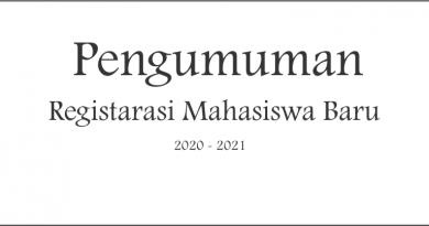 Pengumuman Registrasi Mahasiswa Baru 2020-2021