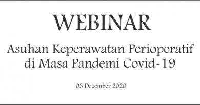 Webinar Asuhan Keperawatan Perioperatif di Masa Pandemi Covid-19