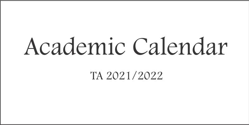 Academic Calendar 2021/2022